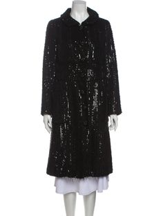 Black Sequins, Marc Jacobs, Fur Coat, Clothes For Women, Sleeves, Jackets, Fashion, Outerwear Women, Down Jackets