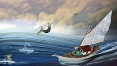 Let Me Sail Around the World Before Im Too Old, Loren  Batt, Elements of my paintings reworked in Photoshop, 31.25x17.56, $60, www.lorenbatt.com