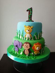 Jungle Birthday Cakes, Jungle Theme Cakes, Baby Boy Birthday Cake, Bithday Cake, Twin Birthday Parties, Safari Cakes, Cupcake Birthday Cake, First Birthday Cakes, Safari Baby Shower Cake