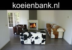Different Modern Western Furniture , Tricolor Cowskin, Black And White