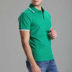 Polo solid casual homme for men tee shirt tops cotton slim fit | worth buying on AliExpress