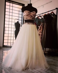 Sister of the bride or groom? Adorn this pretty bustier and tulle skirt for the cocktail party or reception. #fashionista #fashiondesign #fashiondesigner #designercollection #embroidery #ShopNow #shopoholic #indianfashiondesigner #embellished #bustier #tulle #cocktail #evening #party #outfit