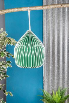 Neon Green Paper Lampshade