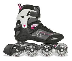 Powerslide 2013 Phuzion Gamma women's inline-skates. - Aluminium frame for good ride quality. Standard sized 80mm wheels and Powerslide ABEC5 bearings for ease of control. Usual $289 now with 10% off at $260.10.