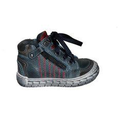 113e5814323 #children #shoes Μποτάκι Mούγερ για τα πρώτα βήματα, δερμάτινο, μπλε με  κορδόνια
