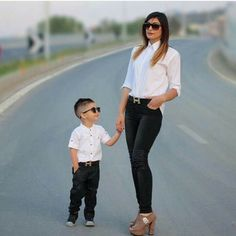 Cute Mother Son Outfit Ideas 1