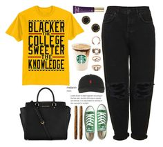 """""""blacker the berry sweeter the juice """" by love-rebelwolf ❤ liked on Polyvore featuring Forever 21, Boutique, Converse, Michael Kors, Polo Ralph Lauren, Marc by Marc Jacobs and Too Faced Cosmetics"""