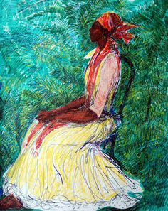 On the Bentwood Chair. Geoffrey Holder. Trinidad and Tobago