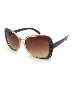 Loving this Brown Translucent Sunglasses on #zulily! #zulilyfinds