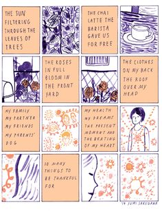 Comic book artist Yumi Sakugawa creates a comic about her intent to experience more gratitude every moment.