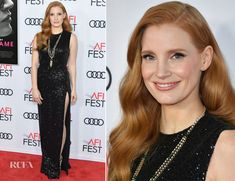 Jessica Chastain In Elie Saab – 'Molly's Game' AFI FEST Screening