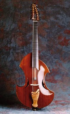 Fred Carlson H'arpeggione Old Musical Instruments, Guitar Musical Instrument, Violin, Harp, Cello, Guitar Diy, Cool Guitar, Beautiful Guitars, Custom Guitars