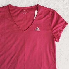 Adidas Climalite Running Top Light weight, mesh like material.  MEASUREMENTS (laying flat) •Medium Armpit to armpit: 19in Shoulder to hem: 26in  •USE OFFER FEATURE TO NEGOTIATE  •BUNDLE TO SAVE  •NO OUTSIDE TRANSACTIONS •NO TRADES Adidas Tops Tees - Short Sleeve