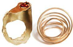 2 unusual beautiful gold rings
