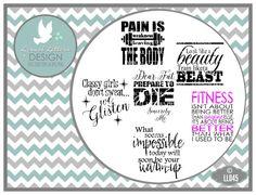 Fitness Motivation Strength Training Design by lyricalletters