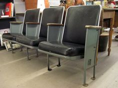 Thinking of our new house...  1950's Heywood Wakefield Movie Theater Seats