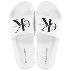Calvin Klein | Calvin Klein Viggo Canvas Sliders | Flip Flops