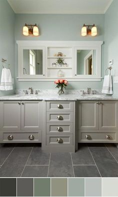 Grey Green Paint Colors For Bathroom