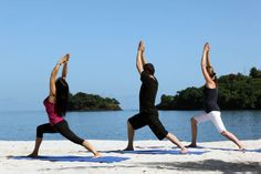 Buccament Bay, Saint Vincent and the Grenadines. Yoga