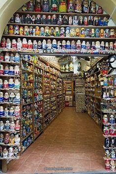 Matryoshka shop in Prague - I WOULD DIE!!!!! ON MY BUCKET LIST NOW!!!!