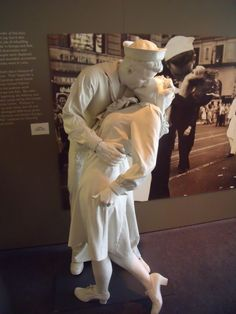 Loved this Statue in the Eisenhower Museum .