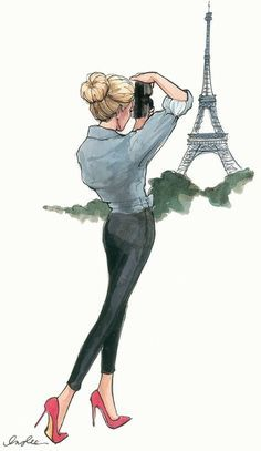 A picture like this. Or maybe just staring out into a Paris view.
