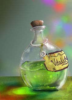Promotional Potion, Lauryn Capozzi on ArtStation at https://www.artstation.com/artwork/promotional-potion