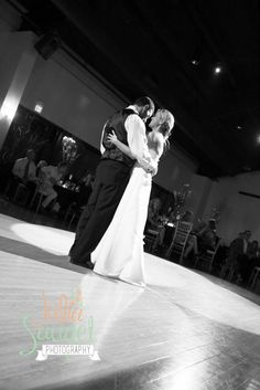 First dance picture at The Pinery at Black Forest in Colorado Springs, CO. Julia Sauget Photography