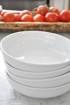 Best bowls ever, wide (9 inches) and shallow.  Great for salads, pasta or noodle dishes.