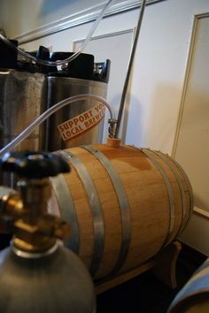 Our 5 Gallon Used Whiskey Barrel from Balcones Distilling makes a great vessel for infusing whiskey and oak into your favorite homebrews. These barrels come with a stand and a rubber bung.