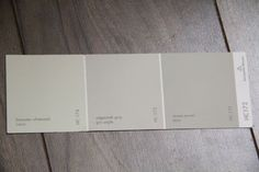 Benjamin Moore Edgecomb Gray | From left to right: Lancaster Whitewash, Edgecomb Gray, Revere Pewter.