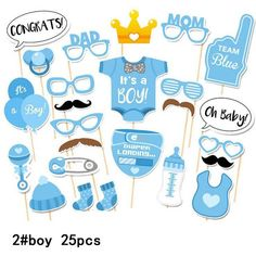 Photo Booth Props - baby shower Party Decorations