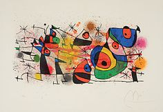 """JOAN #MIRO  (Spanish 1893-1983)  """"Ceramiques,"""" Lithograph on paper  #fineart #michaans http://www.michaans.com/highlights/2013/highlights_02032013.php"""