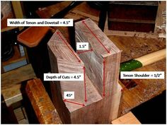 Bad Axe Tool Works - Craft the Sliding Dovetail Tenon Joint for the Roubo Workbench