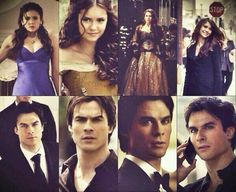 Damon looks at her like she hung the moon Paul Wesley Vampire Diaries, Damon Salvatore Vampire Diaries, Ian Somerhalder Vampire Diaries, Vampire Diaries Seasons, Vampire Diaries Quotes, Vampire Diaries Cast, Vampire Diaries The Originals, Delena, Niklaus Mikaelson Quotes