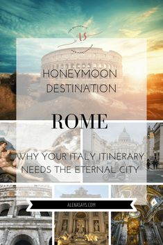 You are planning a magical honeymoon in Italy. How exciting! Here is why you should honeymoon in Rome. Your itinerary definitely needs the Eternal Cit… – Honeymoon Honeymoon Tips, Italy Honeymoon, Honeymoon Destinations, Honeymoon Vacations, Perfect Day, Holiday Places, Famous Places, Romantic Travel, Vacation Spots