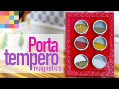 DIY - Porta temperos com imã   Faça você mesmo - YouTube