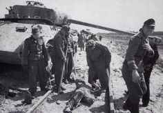 """Grave detail of SS-Panzer-Division """" Wiking """" - at work after the heavy battle`s at Kovel / - today north-western Ukraine - April 1944 Ukraine, Eastern Front Ww2, Medium Armor, Female Marines, German Uniforms, Ww2 Photos, Army Vehicles, Vietnam War, Military History"""