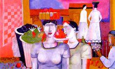 Rufino Tamayo – Women of Tehuantepec – 1939 – Albright-Knox Art Gallery, Buffalo, New York