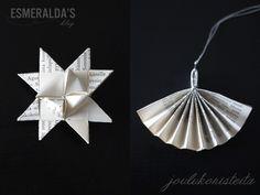 DIY – Koristeita vanhoista kirjoista | Esmeralda's