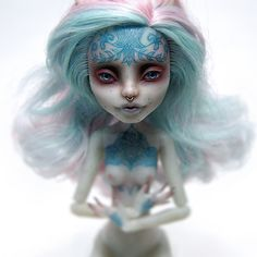 Monster High Rochelle OOAK by ero-nel.deviantart.com on @DeviantArt