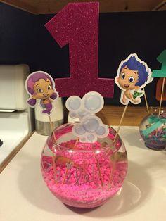 Bubble Guppies 1st Birthday Center-Piece Fish Bowl