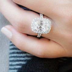 A girl should be two things: classy and fabulous. -Coco Chanel  #MondayMotivation #classic #cushioncut #halo #diamonds #diamond #engaged #engagementring #relationshipgoals #goals #jewelry #jewelrydesigner #jewellery