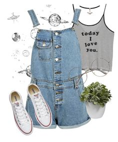 """Sem título #641"" by alphalarryboy ❤ liked on Polyvore featuring MANGO, Boohoo, Converse and Nearly Natural"