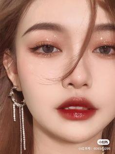 Korean Eye Makeup, Korea Makeup, Asian Makeup, Makeup Inspo, Makeup Art, Makeup Inspiration, Beauty Makeup, Light Makeup Looks, Cute Makeup Looks