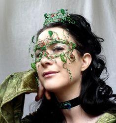 May queen mask and tiara by gringrimaceandsqueak