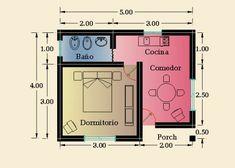 Constructora Sol del Plata – Viviendas Prefabricadas – Construcción de Casas   1 Dormitorio