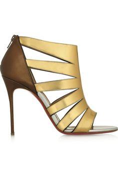 7c95c70592a Christian Louboutin - Beautyk 100 cutout metallic patent-leather sandals