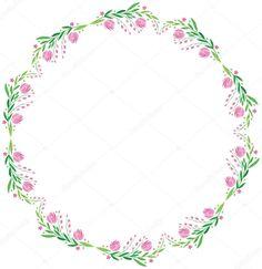 Stáhnout - Akvarel vektor kolo rám - velký růžový květ s listy — Stocková  ilustrace 653d8b24317