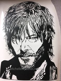 Norman Reedus (Daryl Dixon) from The Walking Dead. Love my Silver Bullet Cutter. This machine is amazing when it comes to fine details and intricate cuts.